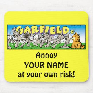 Garfield Logobox stören mich Mousepad