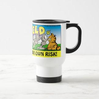 Garfield Logobox stören mich Reise-Tasse