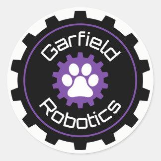 Garfield-Robotik-Aufkleber Runder Aufkleber