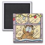 Garfield-Weihnachtsabends-Magnet Kühlschrankmagnete