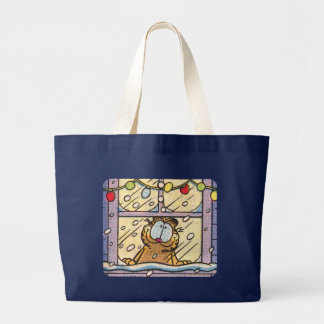 Garfield-Weihnachtsabends-Taschen-Tasche Jumbo Stoffbeutel