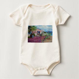 Garnele-Bretterbude Baby Strampler