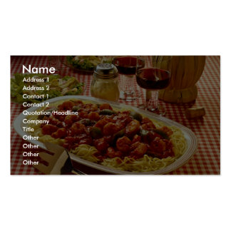 Garnele marinara Abendessen Visitenkarten