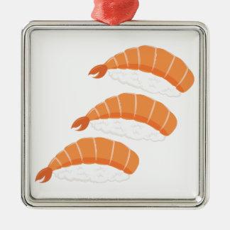 Garnele-Sushi Silbernes Ornament