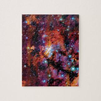 Garnelen-Nebelfleck IC 4628 - buntes Weltraum-Foto Puzzle