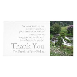 Garten 3 mit Katzen-Beileid danken Ihnen 2 Karte