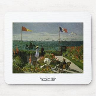 Garten am Heiligen Adresse durch Claude Monet Mousepad