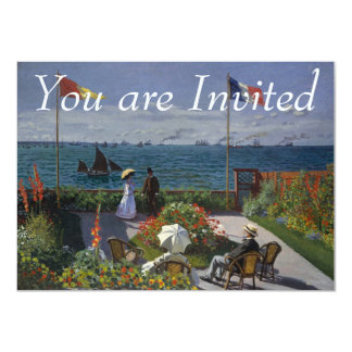 Garten bei Sainte-Adresse durch Claude Monet 11,4 X 15,9 Cm Einladungskarte