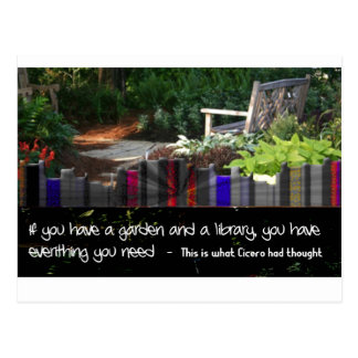 Garten-Bibliothek Postkarte
