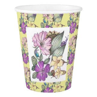 Garten-Blumen-Papierschale Pappbecher
