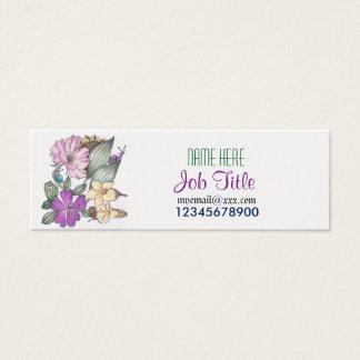 Garten-Blumen- und -schneckegeschäftskarte Mini Visitenkarte