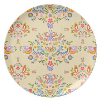 Garten-Blumenstrauß ~ Melamin-Platte Teller