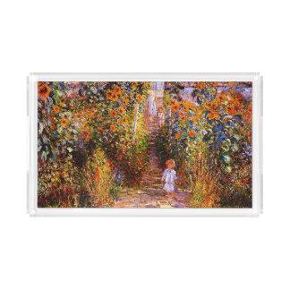 Garten Claudes Monet-Monets bei Vétheuil Acryl Tablett