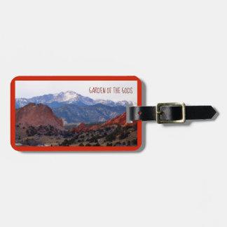 Garten der Götter (Colorado) mit Text Kofferanhänger