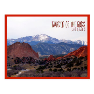 Garten der Götter (Colorado) mit Text Postkarte