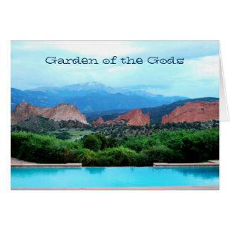 Garten des Götter notecard Karte