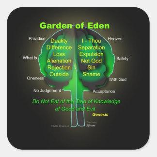 Garten Eden Quadratischer Aufkleber