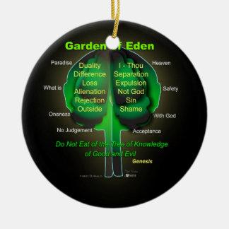 Garten Eden Rundes Keramik Ornament