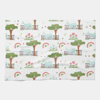 Garten-Einhorn-Muster Küchentuch