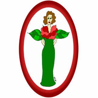 """Garten-Engels-""""Winter-Rosen-"""" Feiertags-Verzierung Fotoskulptur Ornament"""