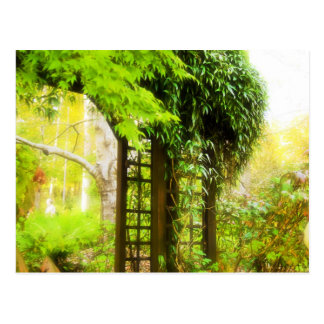 Garten-Gitter Postkarte
