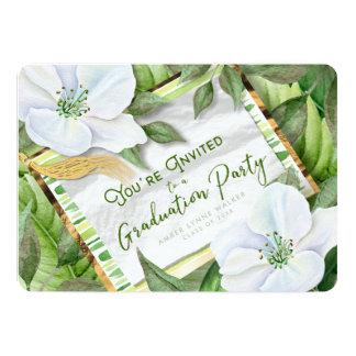 Garten-Grüntöne-Abschluss-Party-Feier laden ein 12,7 X 17,8 Cm Einladungskarte