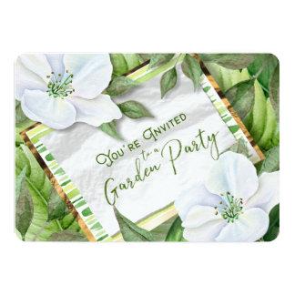 Garten-Grüntöne sind Sie eingeladenes Party, das 12,7 X 17,8 Cm Einladungskarte