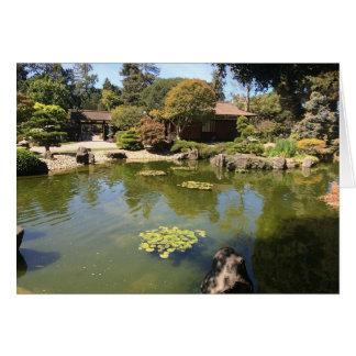 Garten-Gruß-Karte San Mateos japanische Karte