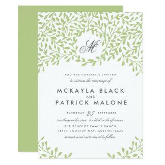 Garten-Hochzeit laden - Grün ein 12,7 X 17,8 Cm Einladungskarte