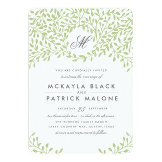 Garten-Hochzeit laden - Grün ein Personalisierte Einladungen