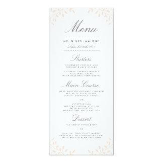 Garten-Hochzeits-Abendessen-Menü - erröten Sie 10,2 X 23,5 Cm Einladungskarte