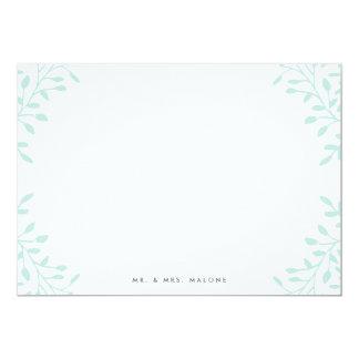 Garten-Hochzeits-Briefpapier - Minze 12,7 X 17,8 Cm Einladungskarte