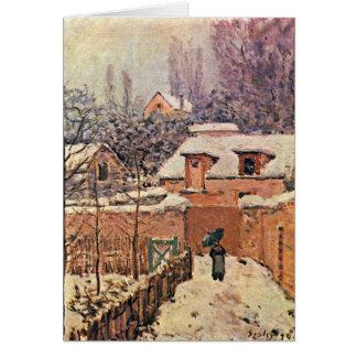 Garten in Louveciennes, Winter durch Alfred Sisley Karte