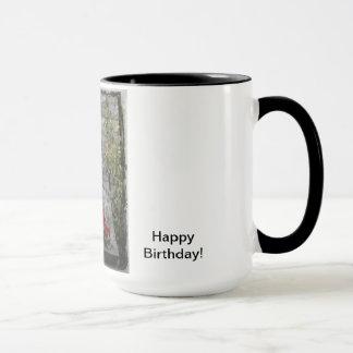 Garten-Katzen-Geburtstag Tasse