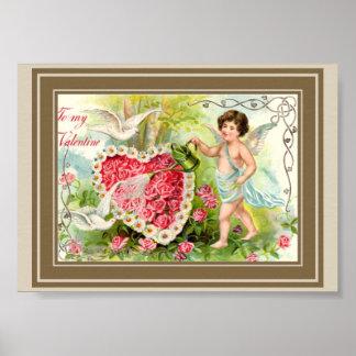 Garten mit Amor Poster