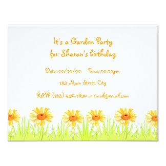 Garten-Party 10,8 X 14 Cm Einladungskarte