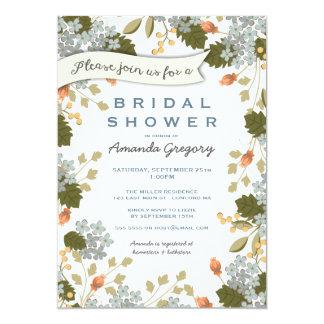 Garten-Party-Brautparty-Blumeneinladung 12,7 X 17,8 Cm Einladungskarte