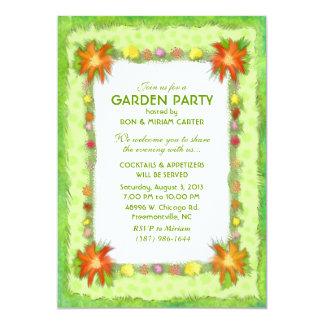 Garten-Party Einladung - Blumengrenze