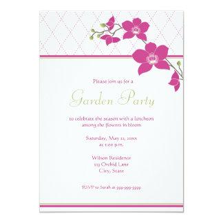 Garten-Party-Rosa-Orchideen-Einladungen 12,7 X 17,8 Cm Einladungskarte