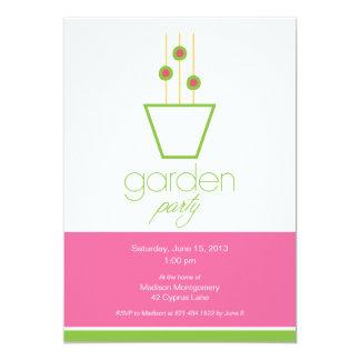 Garten-Party-sozial-Einladung 12,7 X 17,8 Cm Einladungskarte