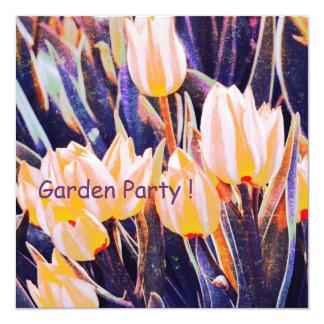 Garten-Party-/summer-Geburtstag laden ein Quadratische 13,3 Cm Einladungskarte