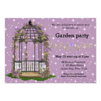 Garten-Party * WÄHLEN Sie Ihre Hintergrundfarbe 12,7 X 17,8 Cm Einladungskarte