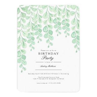 Garten-Rebe| Watercolor-Geburtstags-Party laden Karte