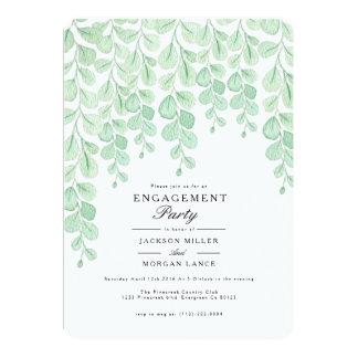 Garten-Rebe| Watercolor-Verlobungs-Party laden ein Karte