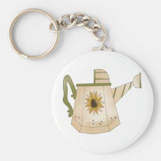 Garten-Sammlung · Gießkanne-Sonnenblume Schlüsselanhänger