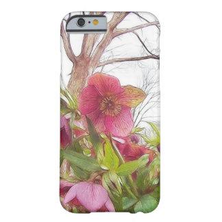 Garten-Szene - Hellebores und alte Eiche Barely There iPhone 6 Hülle