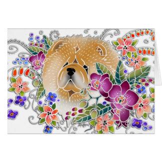GARTEN-TANZ Chow-Chow - Kunstkarten durch Sandra Karte