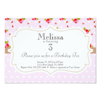 Garten-Tee-Party-Geburtstags-Einladung 12,7 X 17,8 Cm Einladungskarte