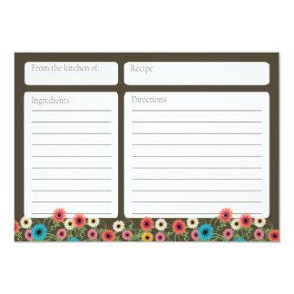 Garten-Teeblumen12x18 Rezept-Karte 12,7 X 17,8 Cm Einladungskarte
