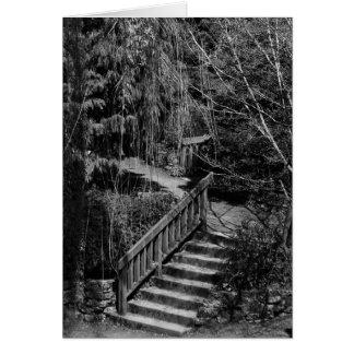 Garten-Treppenhaus in der einfarbigen Karte
